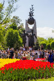 ALMATY, KAZAKHSTAN - MAY 9: Victory Day celebration victory in Royalty Free Stock Photos