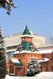 Almaty, Kazakhstan. Museum of National Musical Instruments, Almaty, Kazakhstan. This wooden building was erected in 1908 Royalty Free Stock Photography