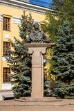 Almaty, Kazakhstan - September 15, 2018: monument of poet and wr royalty free stock images