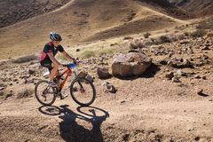 Mountain bike competition Stock Photography