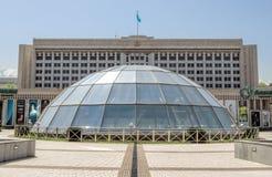 Almaty - la costruzione dell'amministrazione della città Fotografie Stock