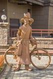 Almaty - la scultura il postino Fotografia Stock Libera da Diritti
