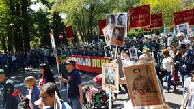 Almaty am 9. Mai Victory Day Lizenzfreies Stockfoto