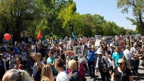 Almaty am 9. Mai Victory Day Lizenzfreie Stockbilder