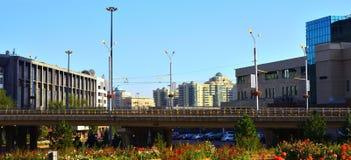 Almaty miasta krajobraz Zdjęcia Royalty Free