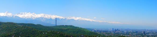 Almaty miasta krajobraz Zdjęcie Royalty Free