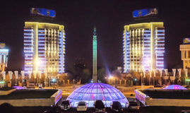 Almaty - Monument of Independence of Kazakhstan Royalty Free Stock Photo