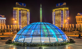 Almaty - Monument of Independence of Kazakhstan Stock Photography