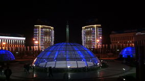 Almaty - Monument of Independence of Kazakhstan stock video