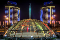 Almaty - Monument of Independence of Kazakhstan Royalty Free Stock Photography