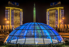 Almaty - Monument of Independence of Kazakhstan Stock Images
