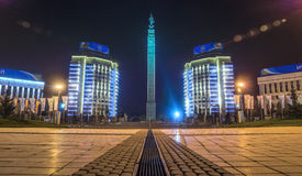 Almaty - Monument von Unabhängigkeit von Kasachstan Lizenzfreie Stockbilder
