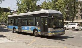 Almaty, Neoplan trolleybus - Fotografia Royalty Free