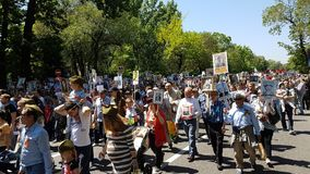 Almaty, o 9 de maio, Victory Day Fotografia de Stock