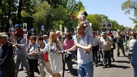 Almaty, o 9 de maio, Victory Day Imagem de Stock Royalty Free