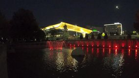 Almaty - Palace of the Republic stock video footage