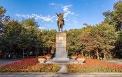 Almaty - parco di Amangeldy Imanov Immagine Stock