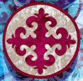 Almaty - piccolo tappeto etnico kazako Immagini Stock