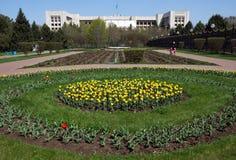 Almaty - presidenter parkerar i staden Arkivfoton