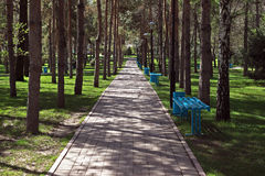 Almaty - Presidents park Stock Image