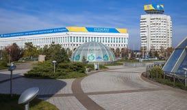 Almaty - quadrato della Repubblica del Kazakistan Immagini Stock Libere da Diritti