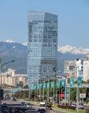 Almaty -  The Ritz-Carlton Hotel from Al-Farabi street Stock Photo