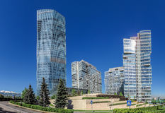Almaty - The Ritz Carlton Tower - panorama Royalty Free Stock Image