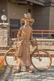 Almaty - The sculpture The Postman Royalty Free Stock Photography