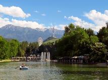 Almaty - sjö av Central Park Royaltyfria Foton