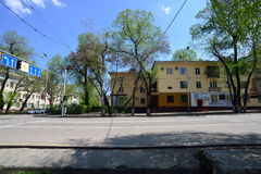 Almaty stary miasto na słonecznym dniu Fotografia Royalty Free