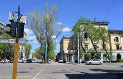 Almaty stary miasto na słonecznym dniu Zdjęcia Stock