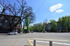 Almaty stary miasto na słonecznym dniu Zdjęcie Royalty Free