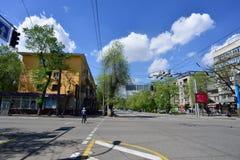 Almaty stary miasto na słonecznym dniu Obraz Royalty Free