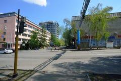 Almaty stary miasto na słonecznym dniu Zdjęcia Royalty Free