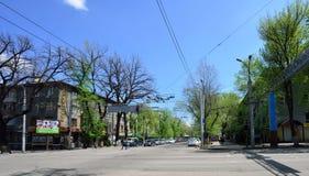 Almaty stary miasto na słonecznym dniu Obrazy Royalty Free