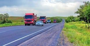 Almaty-Tashkent highway. Royalty Free Stock Photography