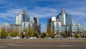 Almaty - tau di Nurly del centro di affari Fotografie Stock