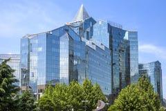 Almaty - tau di Nurly del centro di affari Fotografia Stock