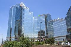 Almaty - tau di Nurly del centro di affari Immagine Stock Libera da Diritti
