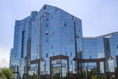 Almaty - tau di Nurly del centro di affari Fotografia Stock Libera da Diritti
