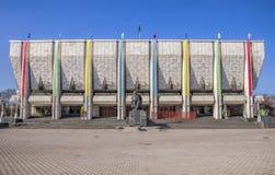 Almaty - teatro accademico di dramma dello stato kazako Fotografie Stock