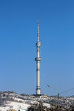 Almaty TV Tower. Almaty Television Tower on koktobe hill.  It is the tallest free-standing tubular steel structure in the world Stock Images