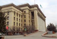 Almaty - vecchia Camera di governo Fotografia Stock Libera da Diritti