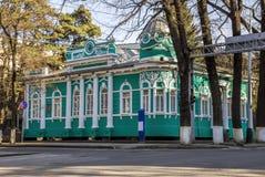 Almaty - vecchia casa dei commercianti Immagine Stock