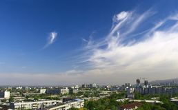 Almaty. View of the big city Royalty Free Stock Photo
