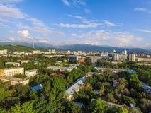 Almaty - vista aerea Fotografia Stock Libera da Diritti