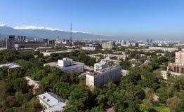 Almaty - vista aerea Fotografie Stock Libere da Diritti