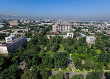 Almaty - vista aerea Immagine Stock Libera da Diritti