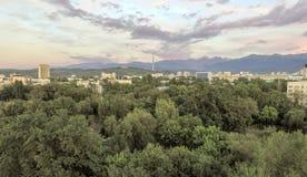 Almaty - vista aerea Immagini Stock Libere da Diritti