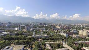 Almaty - vista aerea Immagini Stock